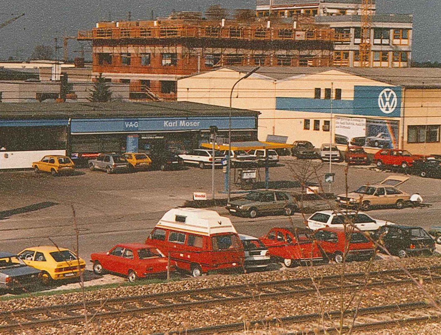 Das Autohaus Karl Moser im Jahr 1978