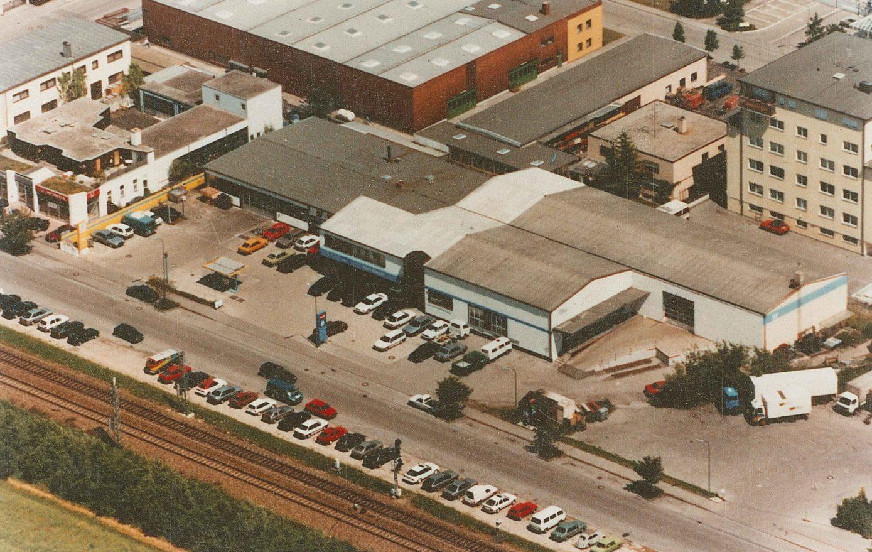Luftbild Aubinger Weg 47 - Autohaus Karl Moser